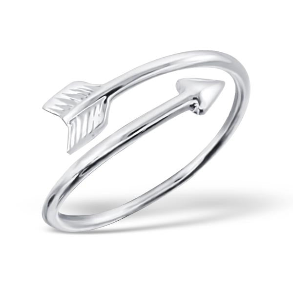 Silver Arrow Wrap Ring
