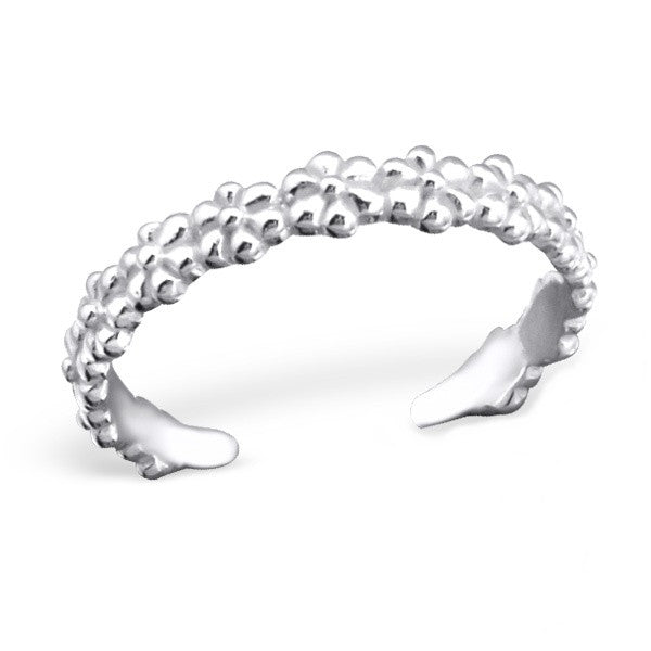 Silver Daisy Chain Toe Ring