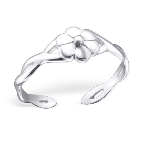 Silver Daisy Toe Ring