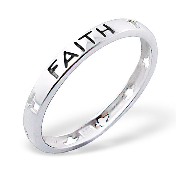 Silver Faith Ring
