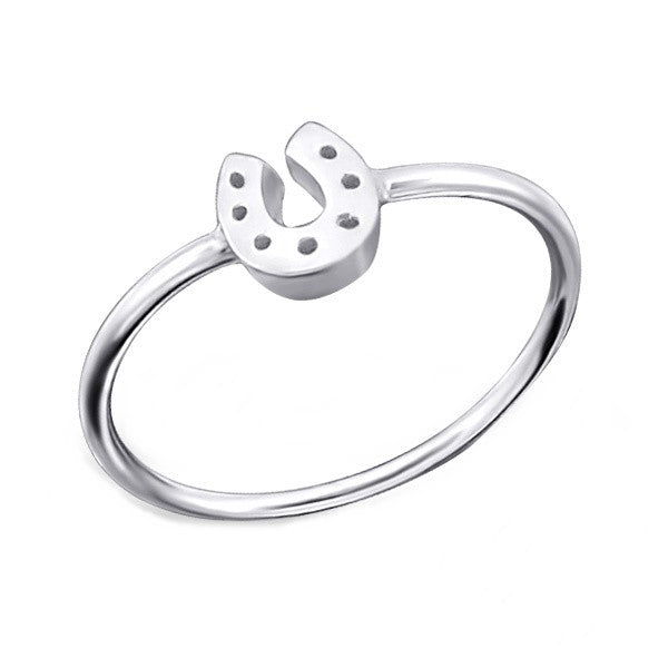 Silver Horseshoe Midi Ring