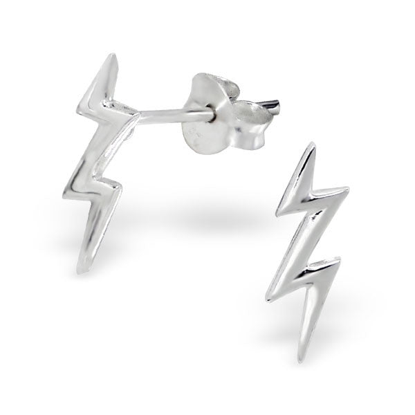 Tiny Jagged Lightning Bolt Studs