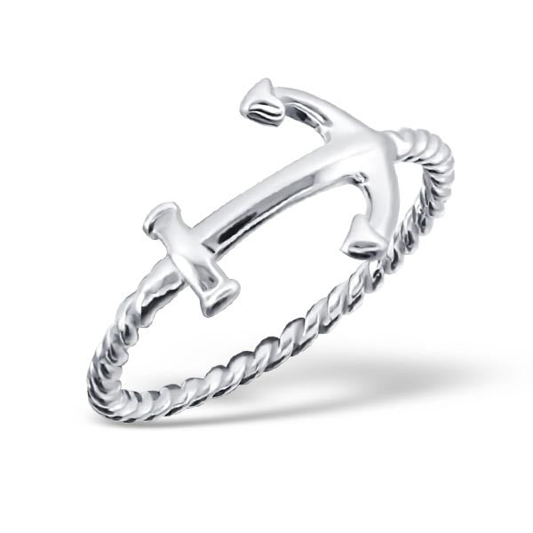 Silver Rope Anchor Ring