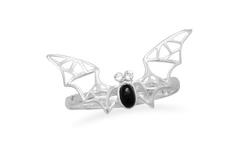 Black Onyx Bat Ring