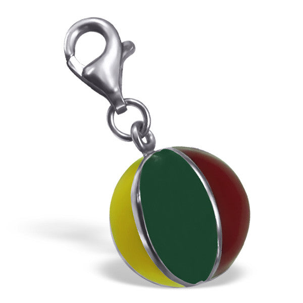 Rainbow Beach Ball Charm