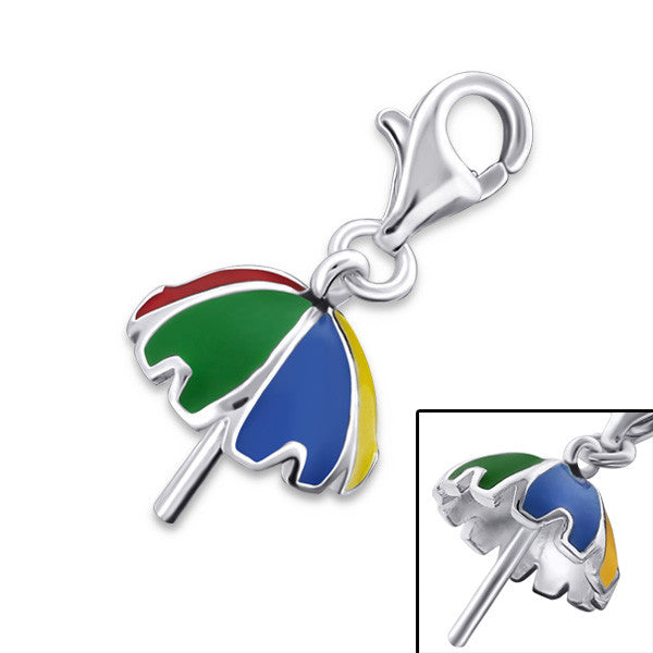 Rainbow Umbrella Charm