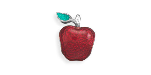 Red Apple Large Hole Bead