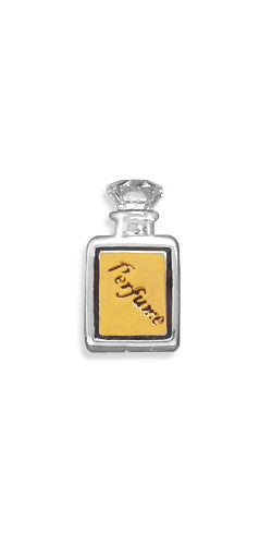 Two Tone Perfume Bottle Large Hole Bead