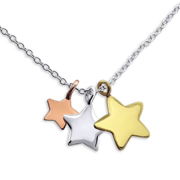 Layered Stars Trio Necklace