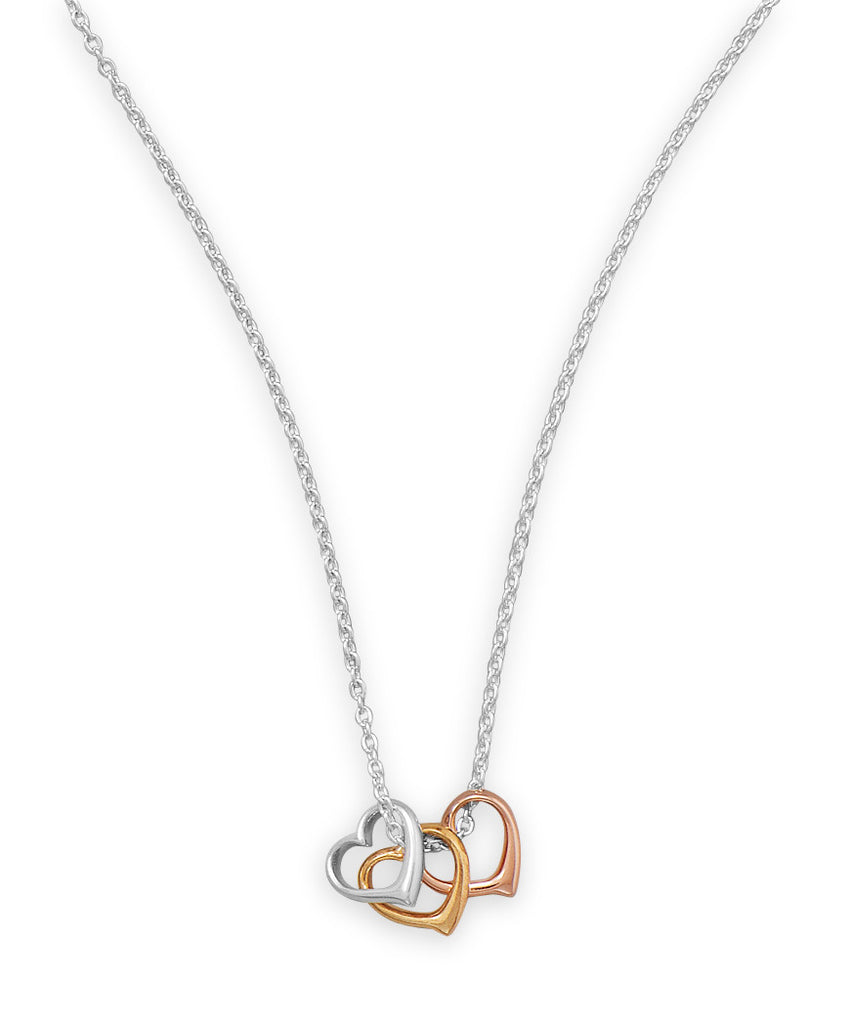 Open Heart Trio Necklace