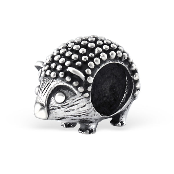 Silver Hedgehog Large Hole Bead