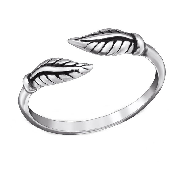 Silver Leaf Wrap Toe Ring
