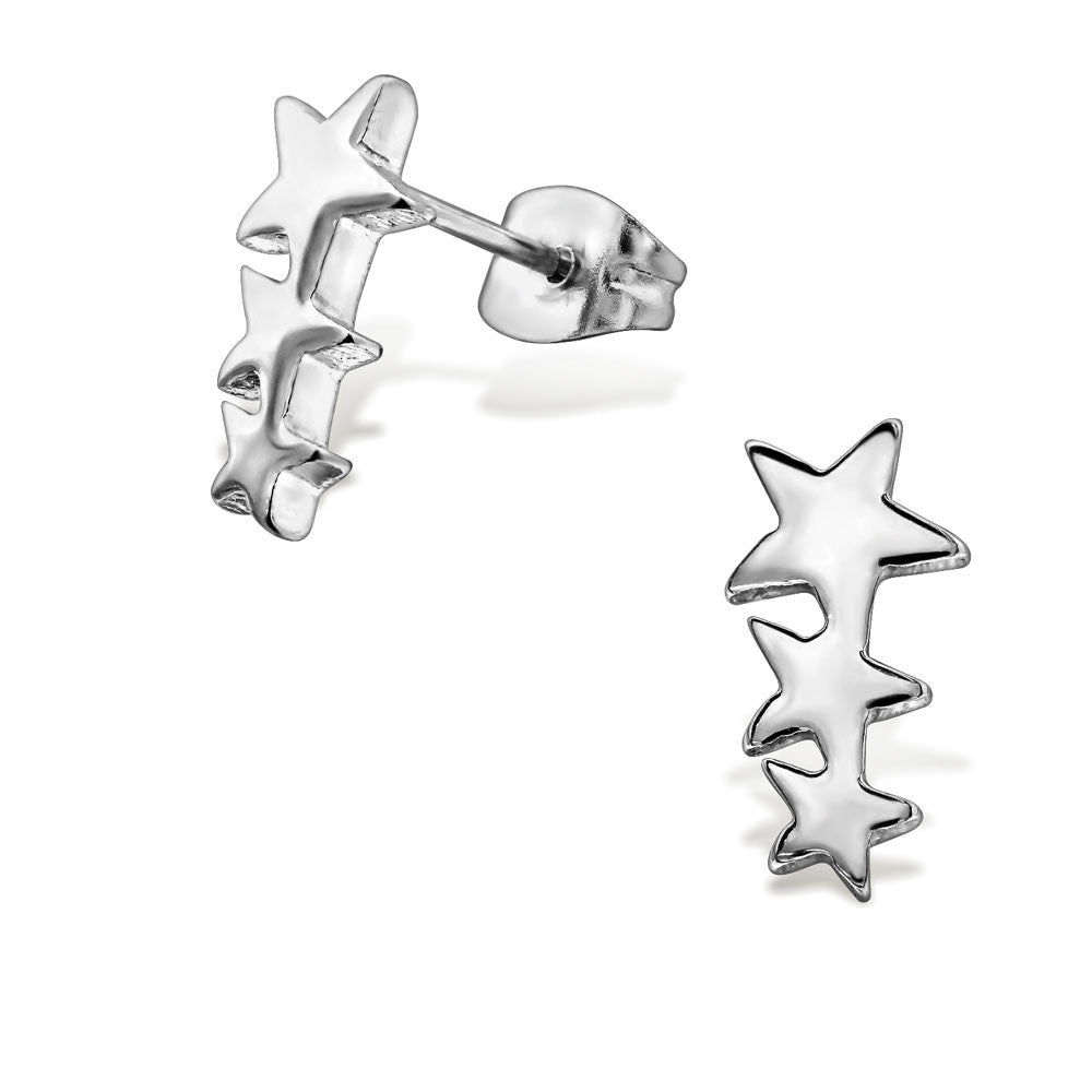Steel Shooting Stars Studs