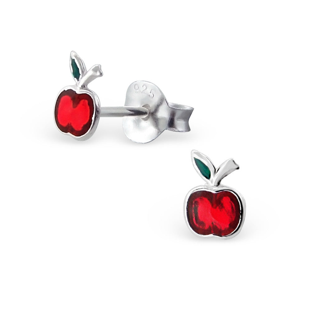 Tiny Red Apple Studs