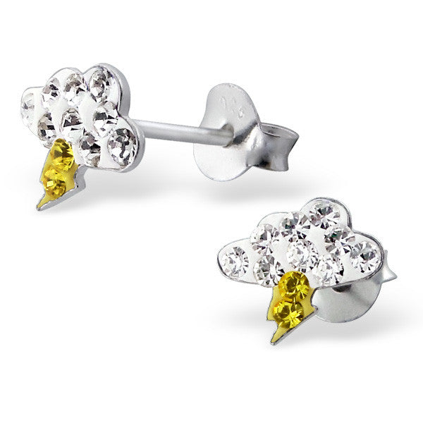 White Crystal Thundercloud Studs
