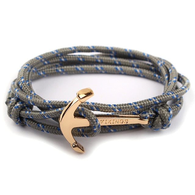 Metal Anchor Strap Bracelet