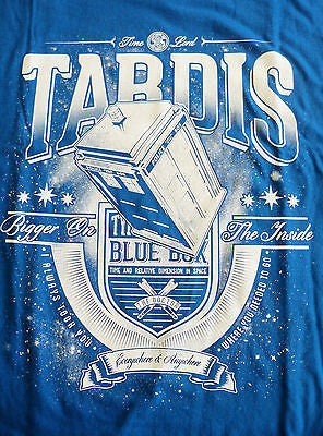 TeeFury T-Shirt - Dr Who - Tardis Bigger On The Inside - Adult - Blue