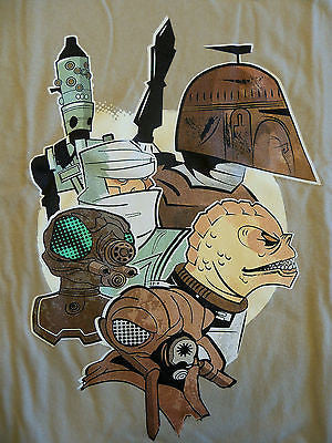 TeeFury T-Shirt - Star Wars Bounty Hunters - New - Adult XL