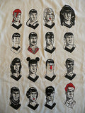 TeeFury T-Shirt - Many Faces Of Spock - Leonard Nimoy Star Trek - New Adult XL
