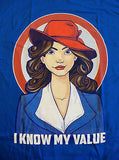 TeeFury T-Shirt - I Know My Value - New Adult L
