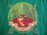 TeeFury T-Shirt -  Green Arrow I Must Protect My City - Adult XL