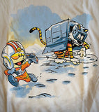 TeeFury T-Shirt - Star Wars - Calvin & Hobbes - New Adult S