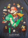 TeeFury T-Shirt - Mario Platformer Video Game - Adult XL