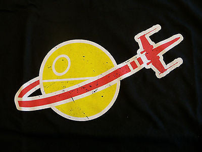 TeeFury T-Shirt - LEGO Classic Space Death Star X-Wing - New Adult M