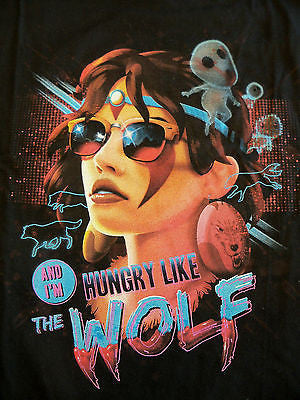 TeeFury T-Shirt - Ghibli Princess Mononoke Hungry Like The Wolf - New Adult XL