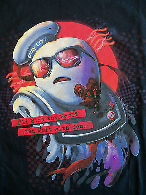 TeeFury T-Shirt - Ghostbusters Melt With You Stay Puft Marshmallow Man - New XL