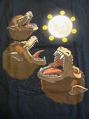 TeeFury T-Shirt - Three Oozaru Moon - Dragonball Z - New Adult L