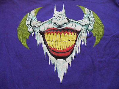 TeeFury Graphic Tee - T-Shirt - Batman Joker Last laugh - Adult S - Purple
