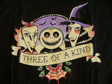 TeeFury T-Shirt - Three Of A Kind Nightmare Before Christmas - New Adult L