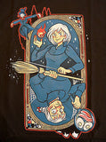 TeeFury T-Shirt - Howl's Moving Castle Queen of Hearts On Fire