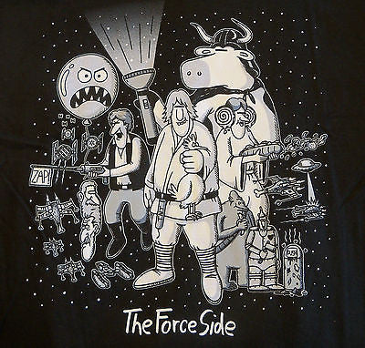 TeeFury T-Shirt - The Force Side Star Wars The Far Side