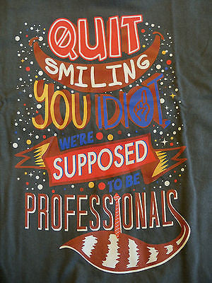 TeeFury T-Shirt - Guardians Groot Rocket Quit Smiling You Idiot - New - Adult M