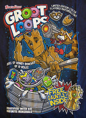 RIPT T-Shirt - Groot Loops Fruit Loops Guardians Of The Galaxy - Adult M