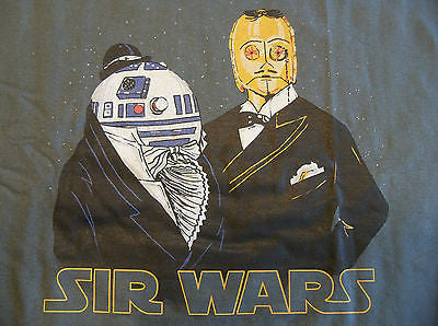 TeeFury T-Shirt - Sir Wars - Star Wars C-3PO & R2-D2 - New Adult XXL