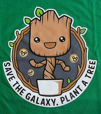 TeeFury T-Shirt - Groot - Save The Galaxy Plant A Tree - Guardians