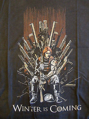 RIPT T-Shirt - Game Of Thrones Winter Soldier Captain America - Adult S