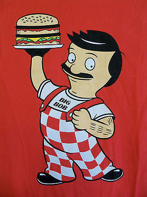 BustedTees T-Shirt - Big Bob - Bob's Burgers - Big Boy - Adult
