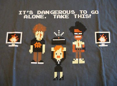 TeeFury T-Shirt -  It's Dangerous To Go Alone Zelda - New Adult L