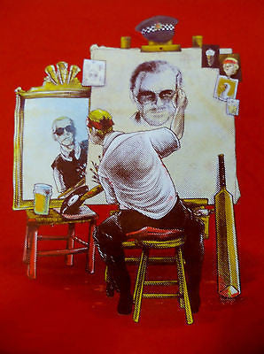 TeeFury T-Shirt - Cornetto Triple Self Portrait Norman Rockwell