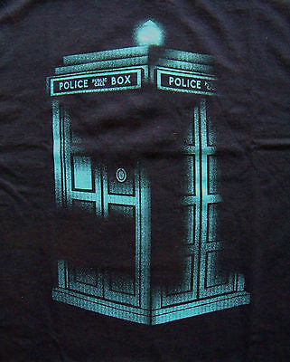TeeFury T-Shirt - Dr Who Tardis - Navy