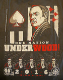 TeeFury T-Shirt - House Of Cards - One Nation Under Wood 2016 - New Adult L