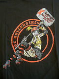 TeeFury T-Shirt - Batman Joker - GC Rollergirls Harley Quinn - New Adult S
