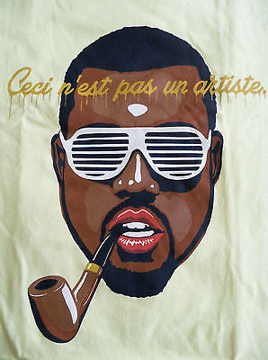 TeeFury T-Shirt - Ceci n'est pa une artiste - Kanye West Magritte - New XL