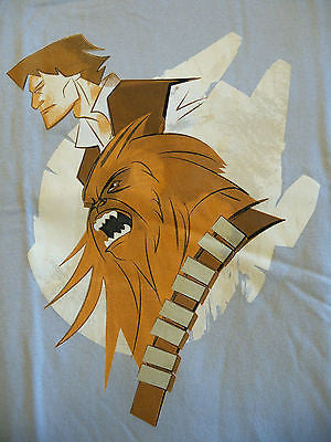 TeeFury T-Shirt - Star Wars - Han Solo Chewbacca Millenium Falcon - Adult S
