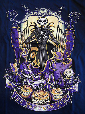 TeeFury T-Shirt - Nightmare Before Christmas Hail The Pumpkin King - New Adult S