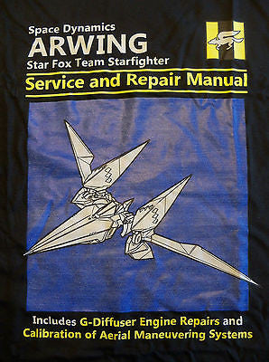 RIPT T-Shirt - Star Fox Team Starfighter ARWING Manual - Adult M